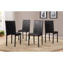 Metal Frame Leather Dining Chair Armchair Table Shop Noyes Faux Seat Black Chairs Set Of 4