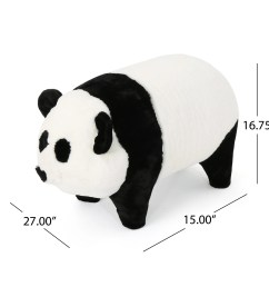 shop jotham kid s faux fur panda ottoman bench by christopher knight home on sale free shipping today overstock 18659779 [ 2500 x 2500 Pixel ]