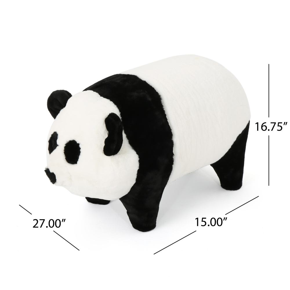 medium resolution of shop jotham kid s faux fur panda ottoman bench by christopher knight home on sale free shipping today overstock 18659779