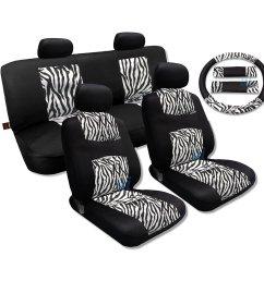 shop white zebra fur black mesh cool breeze animal print seat cover saab free shipping today overstock com 18695852 [ 1500 x 1500 Pixel ]