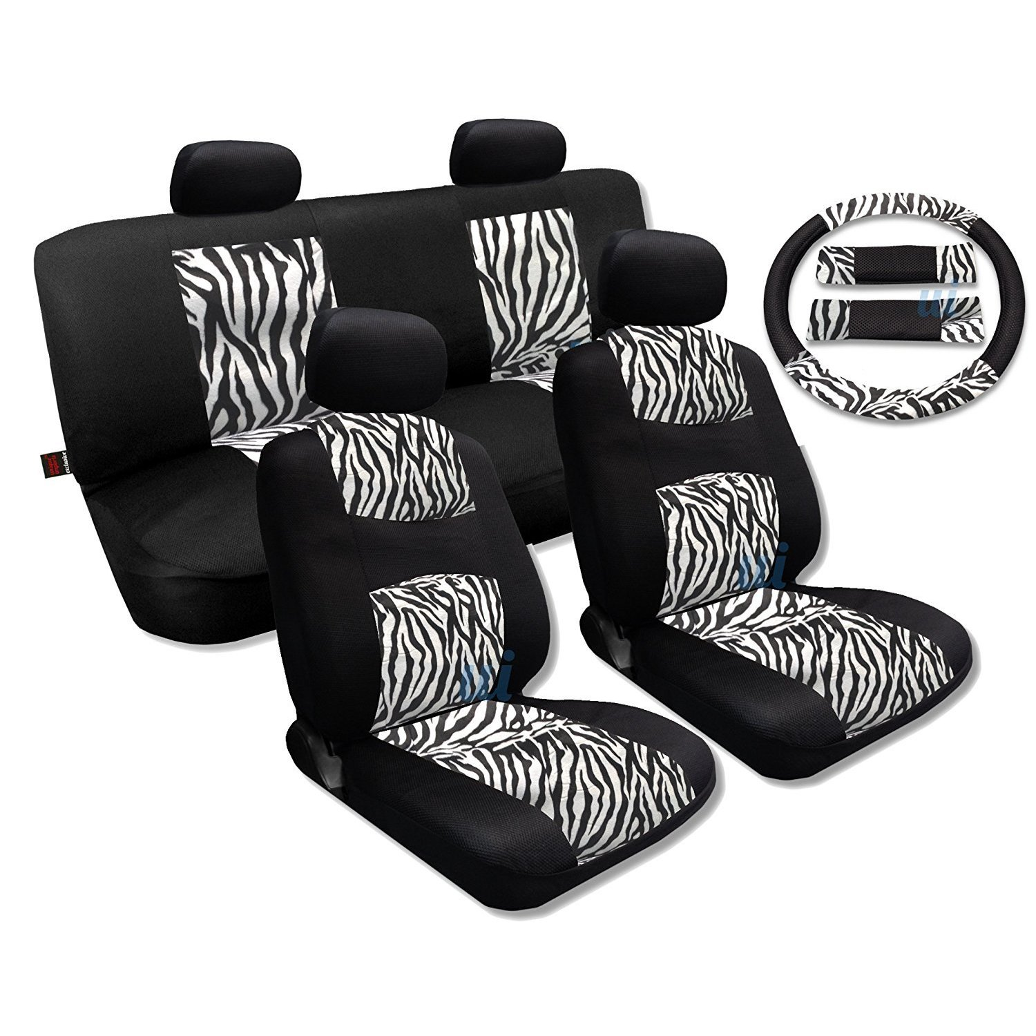 hight resolution of shop white zebra fur black mesh cool breeze animal print seat cover saab free shipping today overstock com 18695852
