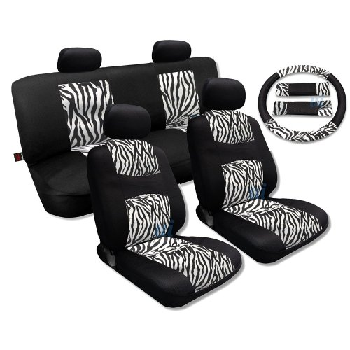 small resolution of shop white zebra fur black mesh cool breeze animal print seat cover saab free shipping today overstock com 18695852