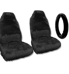 shop sheepskin seat covers pair steering cover black fleece fits saab 9 3 free shipping today overstock com 18696081 [ 1500 x 1500 Pixel ]