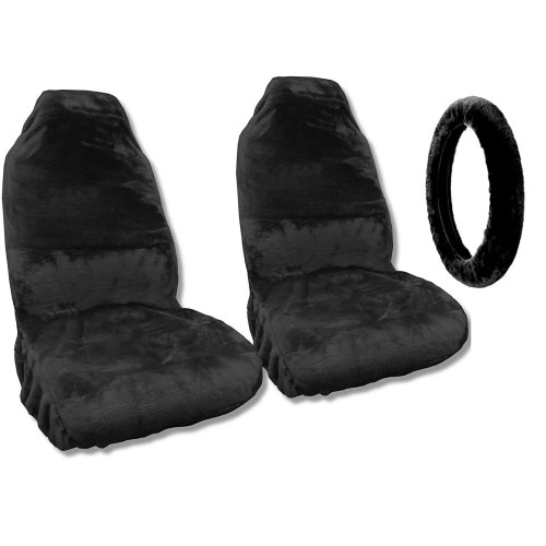 small resolution of shop sheepskin seat covers pair steering cover black fleece fits saab 9 3 free shipping today overstock com 18696081