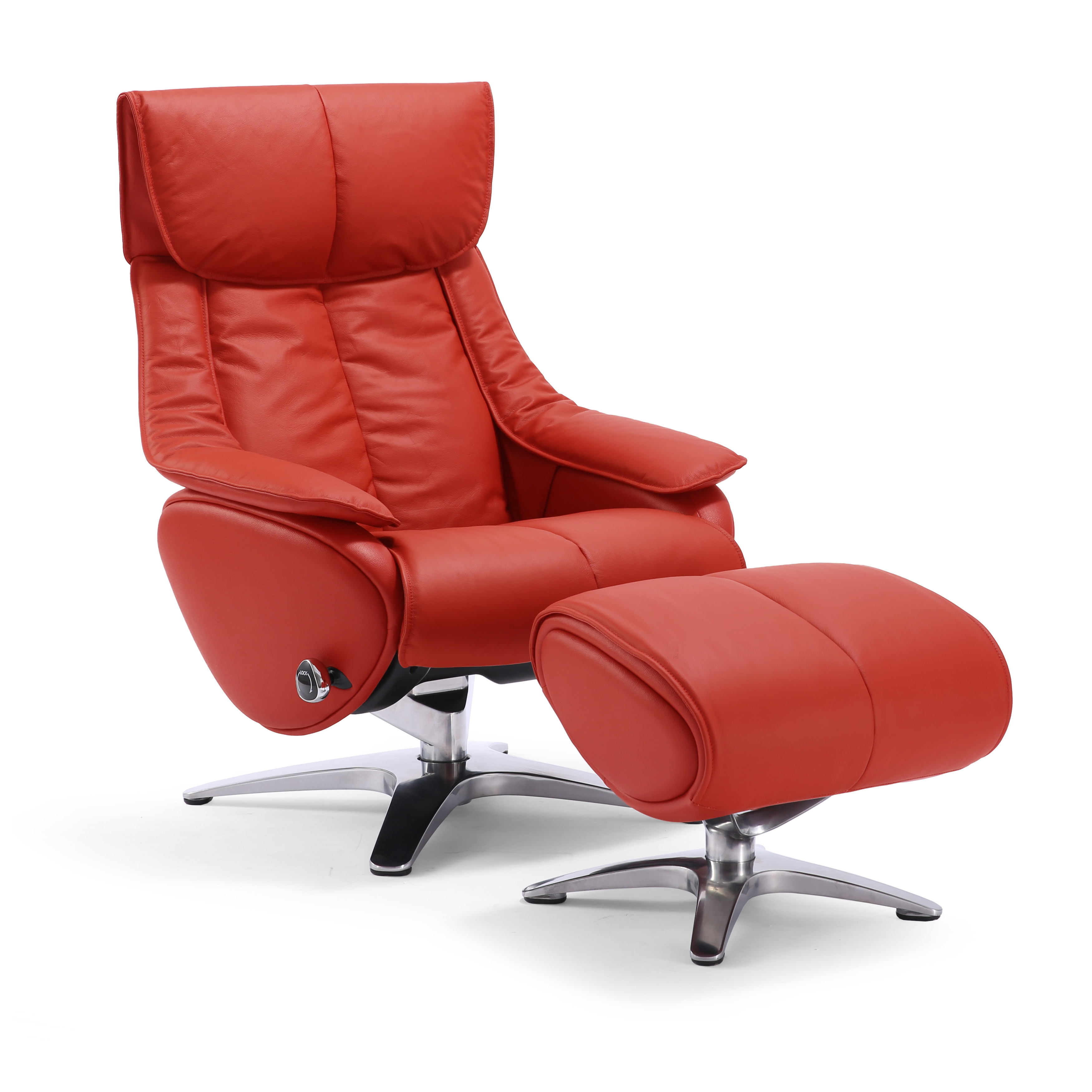 Red Leather Swivel Chair Red Leather Swivel Recliner Chair