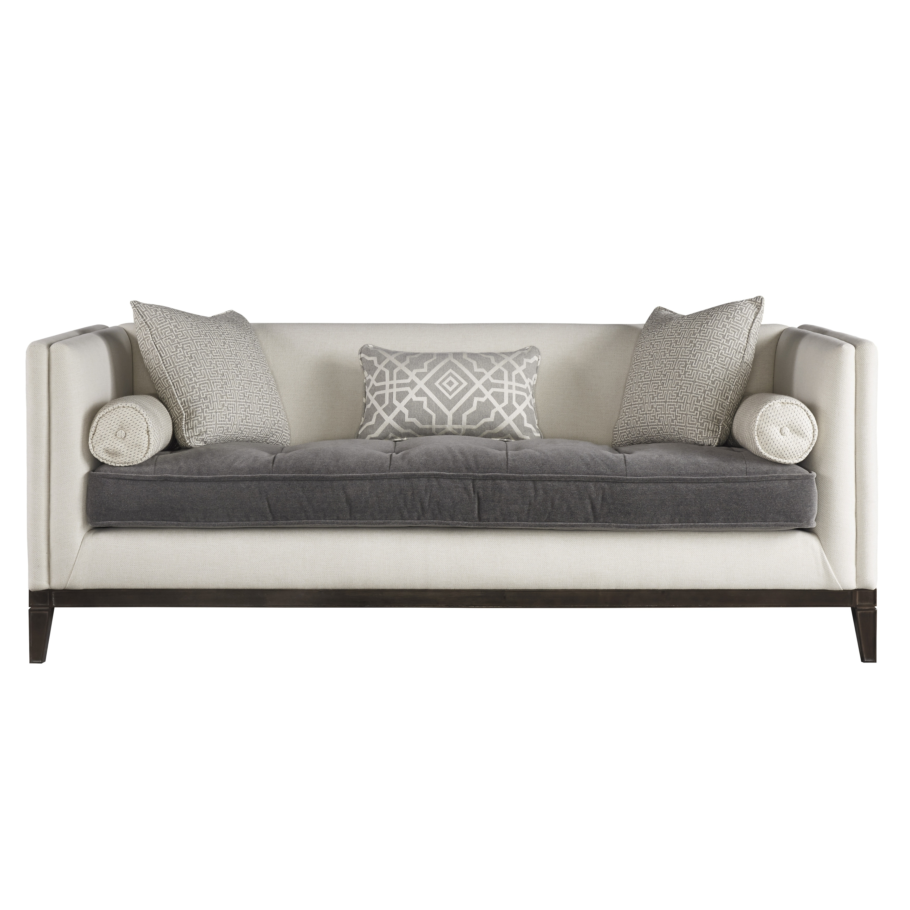 tufted button sofa cama orleans tugo shop curated ivory and grey hartley free shipping today overstock com 18705512