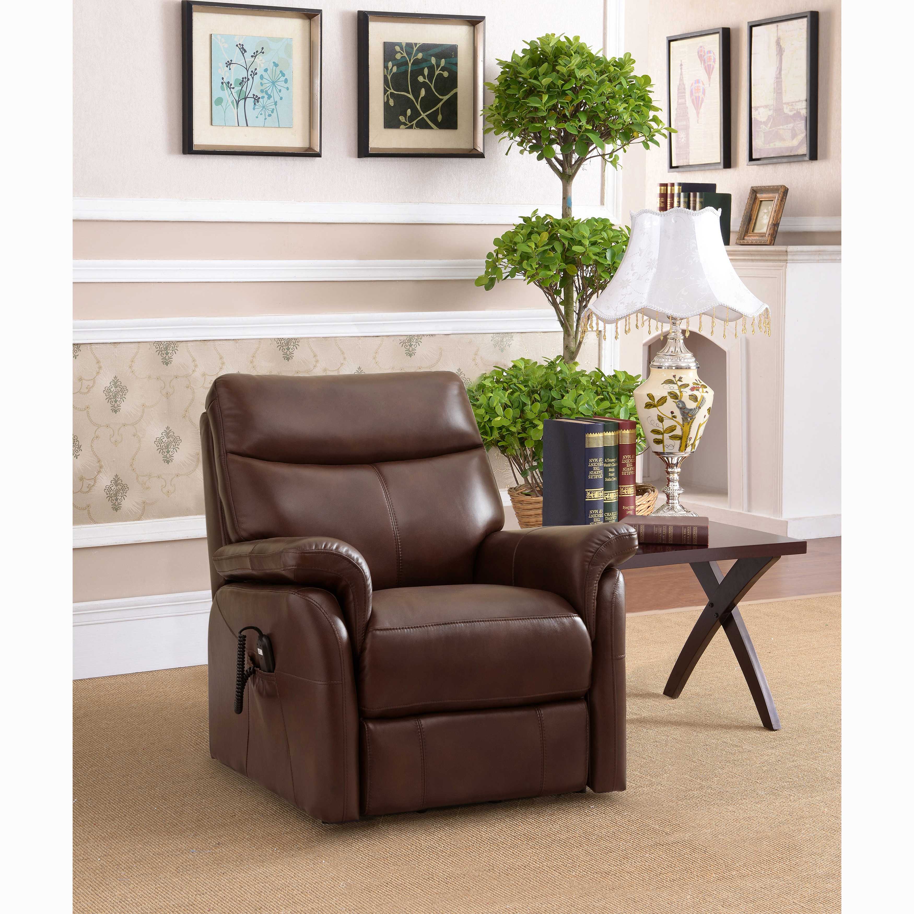 lay flat recliner chairs academy zero gravity shop ivy brown top grain leather power lift and chair