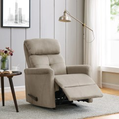 Rocker And Recliner Chair Chairs For Dining Table Shop Prolounger Stone Nubuck On Sale Free
