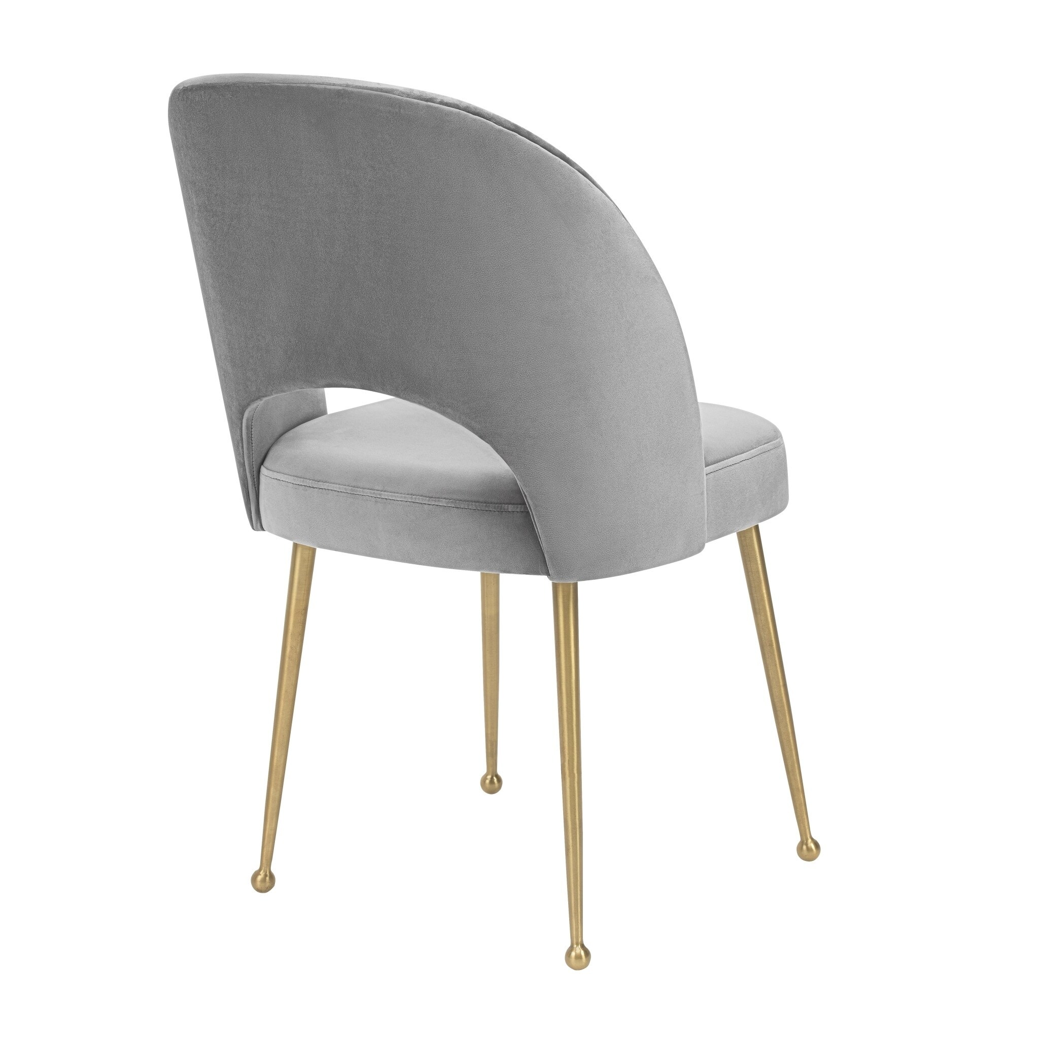 light grey chair buy baby high shop swell velvet free shipping today overstock com 19398265