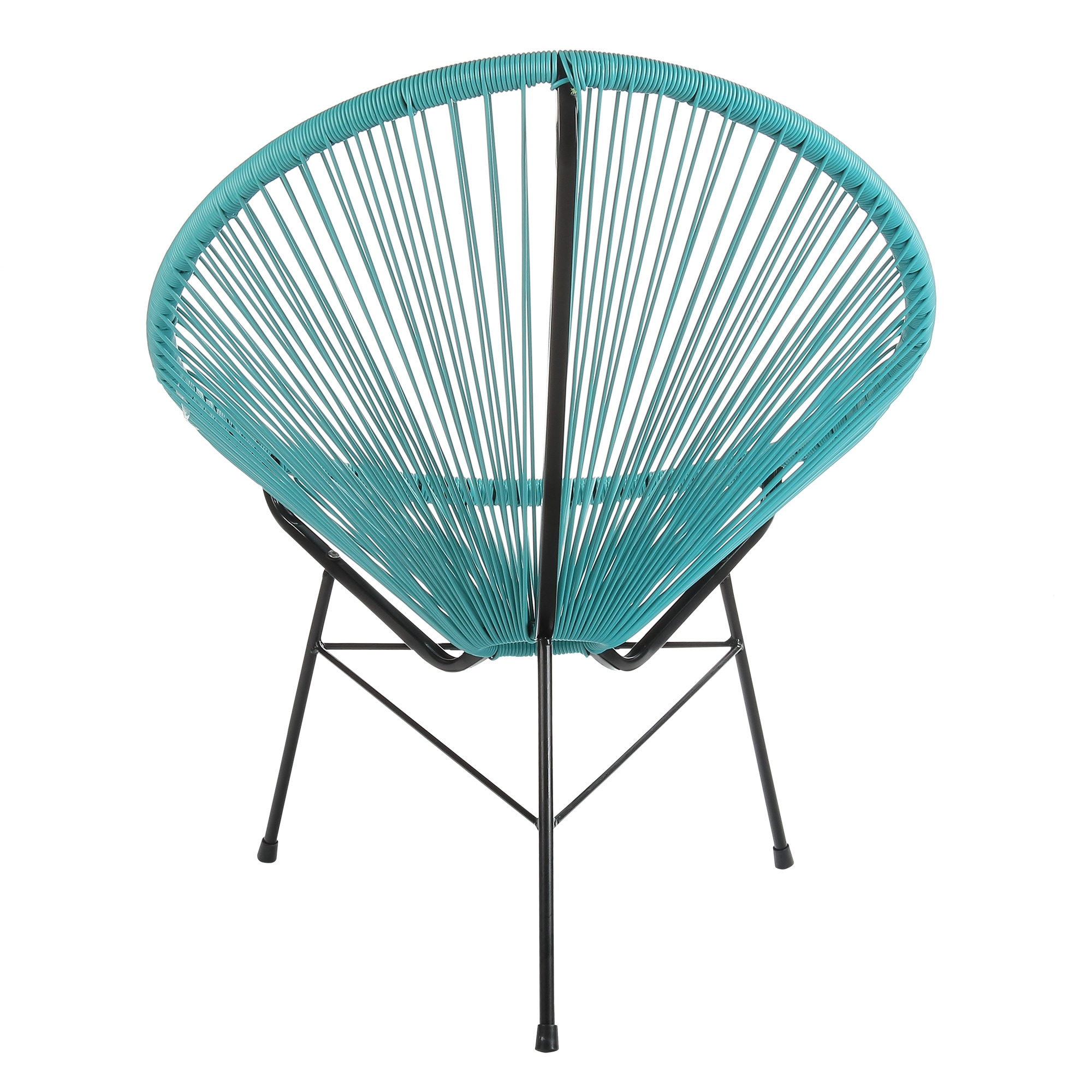 turquoise lounge chair outside chaise chairs shop joseph allen acapulco blue vinyl steel indoor outdoor patio on sale free shipping today overstock com 19458950