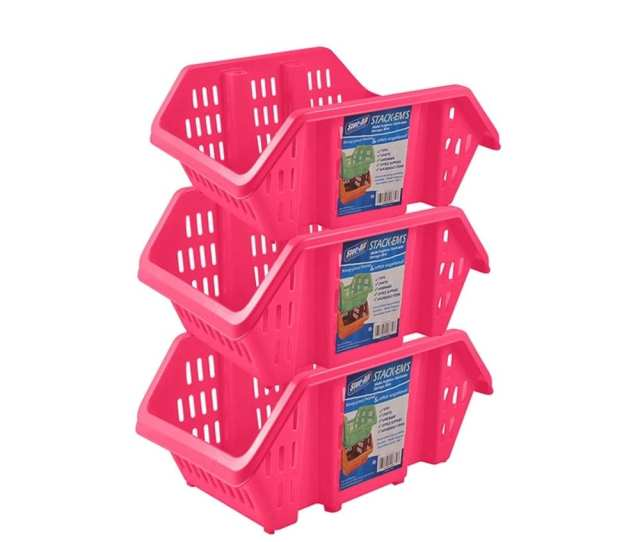 Stor All Solutions Stack Ems Stackable Storage Bins 3 Pack