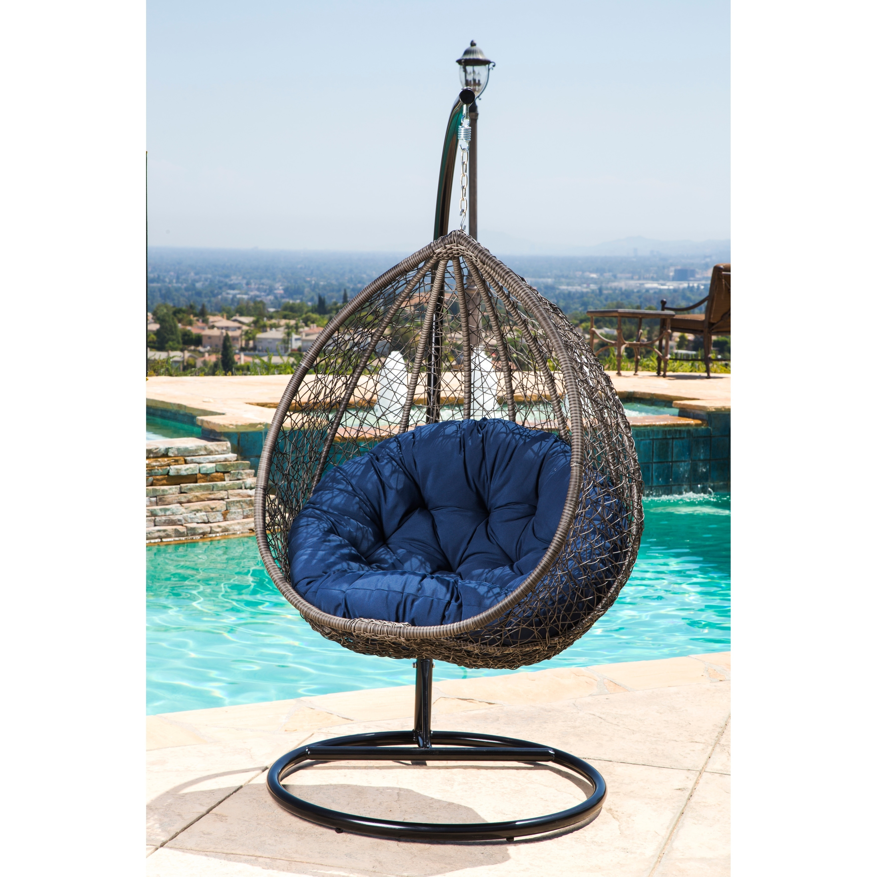 outdoor wicker swing chair porch chairs shop abbyson newport patio on sale