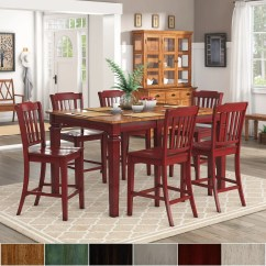 Red Counter Height Dining Chairs Double Papasan Chair Cushion Cover Shop Elena Berry Extendable Set Slat Back By Inspire Q Classic