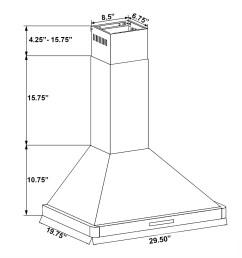 shop akdy 30 stainless steel black finish wall mount kitchen range thermador range wiring akdy range hood wiring diagram  [ 1800 x 1800 Pixel ]