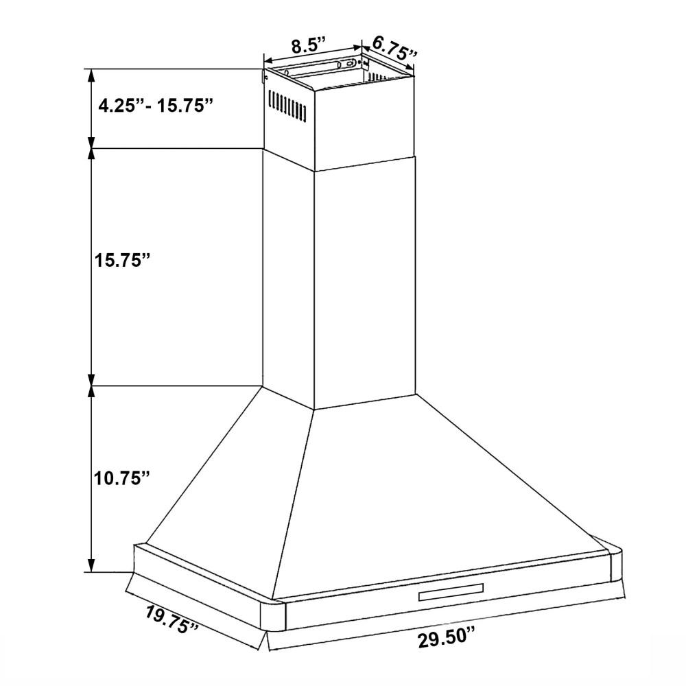medium resolution of shop akdy 30 stainless steel black finish wall mount kitchen range thermador range wiring akdy range hood wiring diagram