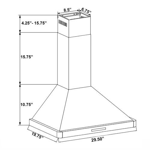 small resolution of shop akdy 30 stainless steel black finish wall mount kitchen range thermador range wiring akdy range hood wiring diagram