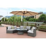 Half Moon 6 Piece Curved Wicker Patio Furniture Set By Direct Wicker Without Umbrella Overstock 19983522
