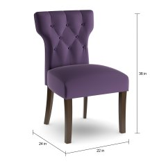 Purple Upholstered Dining Chairs White Resin Patio Shop Copper Grove Flat Lake Set Of 2 On Sale Free Shipping Today Overstock Com 20000895