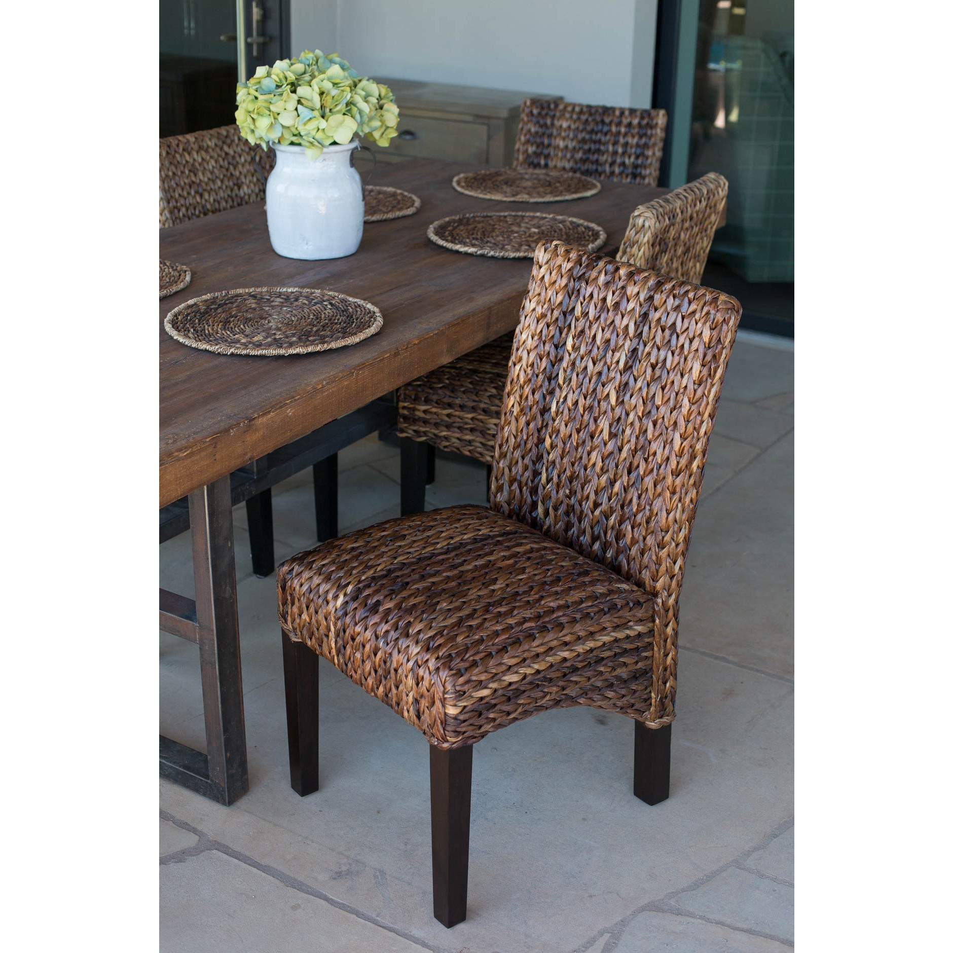 Seagrass Dining Chair The Curated Nomad Fairway Seagrass Dining Chair Set Of 2