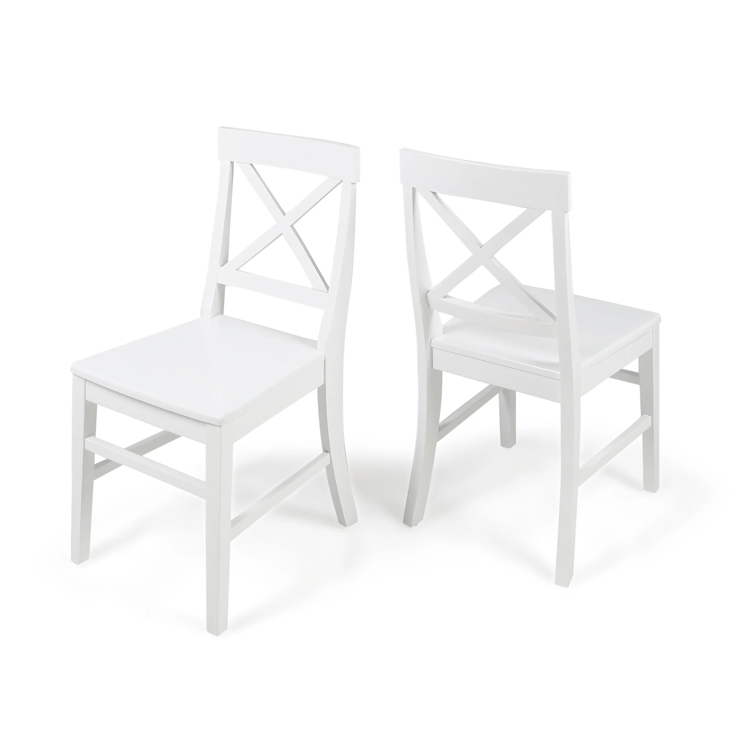 White Wooden Dining Chairs Roshan Farmhouse Acacia Wood Dining Chair Set Of 2 By Christopher Knight Home