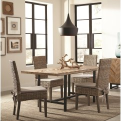Industrial Style Dining Chairs Indoor Chair Cushions Target Shop Rustic Set With Chevron Pattern Wood Table Top