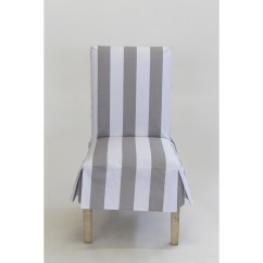 Club Chair Covers Craigslist Table And Chairs Shop Classic Slipcovers Cabana Stripe Short Dining Set Of 2