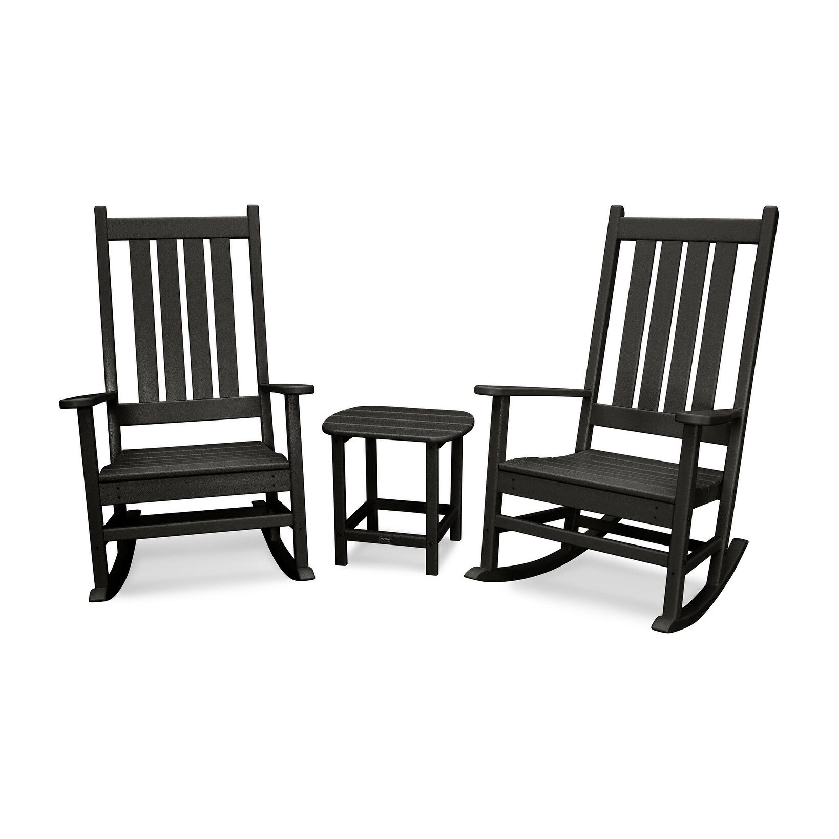 Outdoor Rocking Chair Set Polywood Vineyard 3 Piece Outdoor Rocking Chair Set