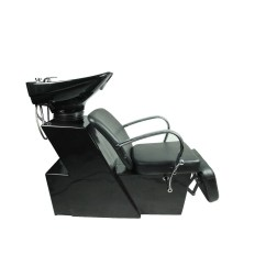 Shampoo Sink And Chair Beach Canopy Shop Backwash Ceramic Bowl Station Salon Black Free Shipping Today Overstock Com 20500218
