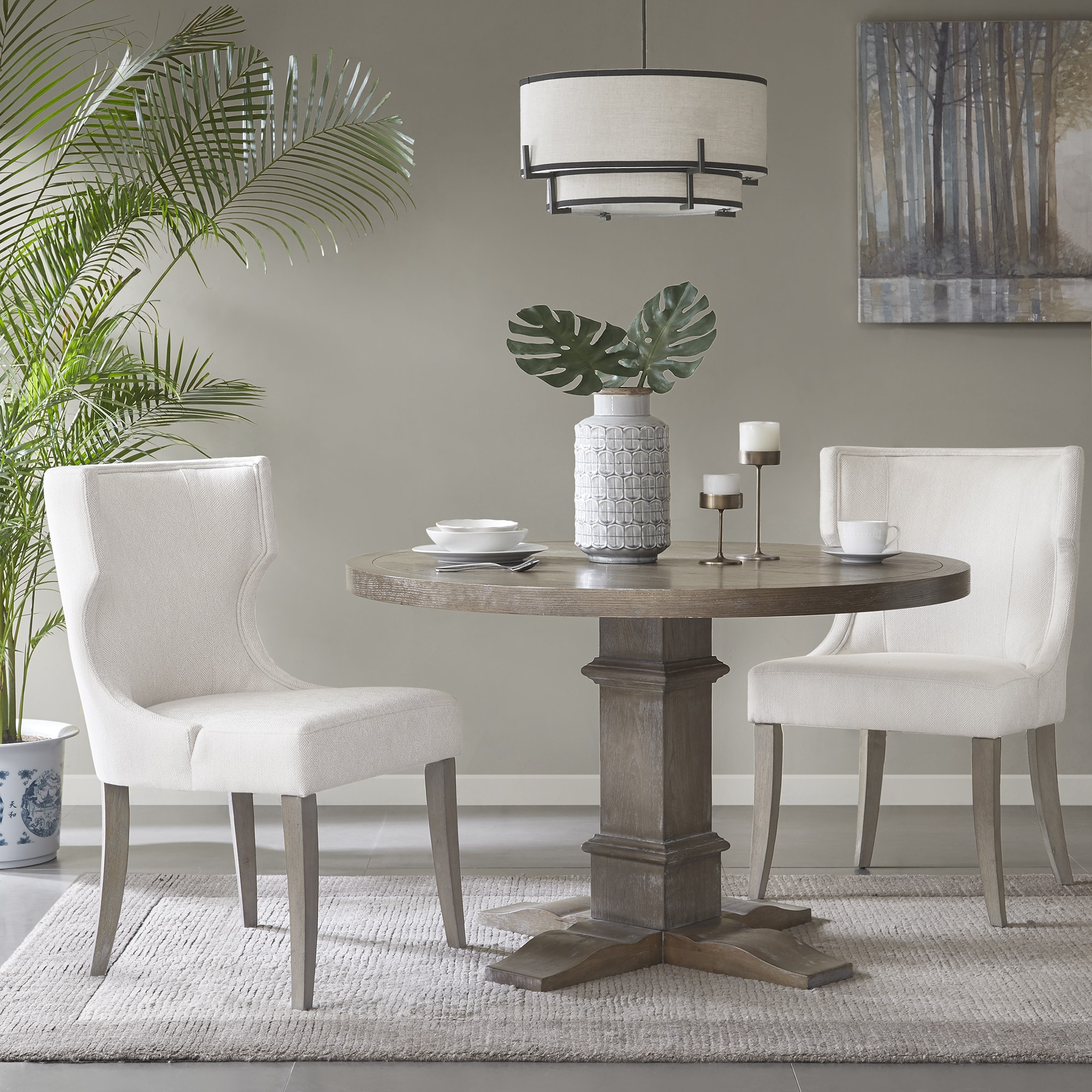 cream upholstered dining chairs chair living room shop madison park fillmore 23 25 w x 26 5 d 37 h