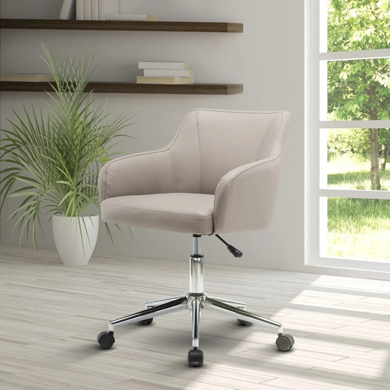 Comfy Office Chairs Urban Designs Beige Comfy And Classy Home Office Chair