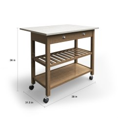 Drop Leaf Kitchen Cart Cheap Makeover Shop The Gray Barn Firebranch Wood And Stainless Steel