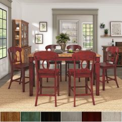 Red Counter Height Dining Chairs Yellow Patio Shop Elena Berry Extendable Set Napoleon Back By Inspire Q Classic On Sale Free Shipping Today Overstock Com 20585842