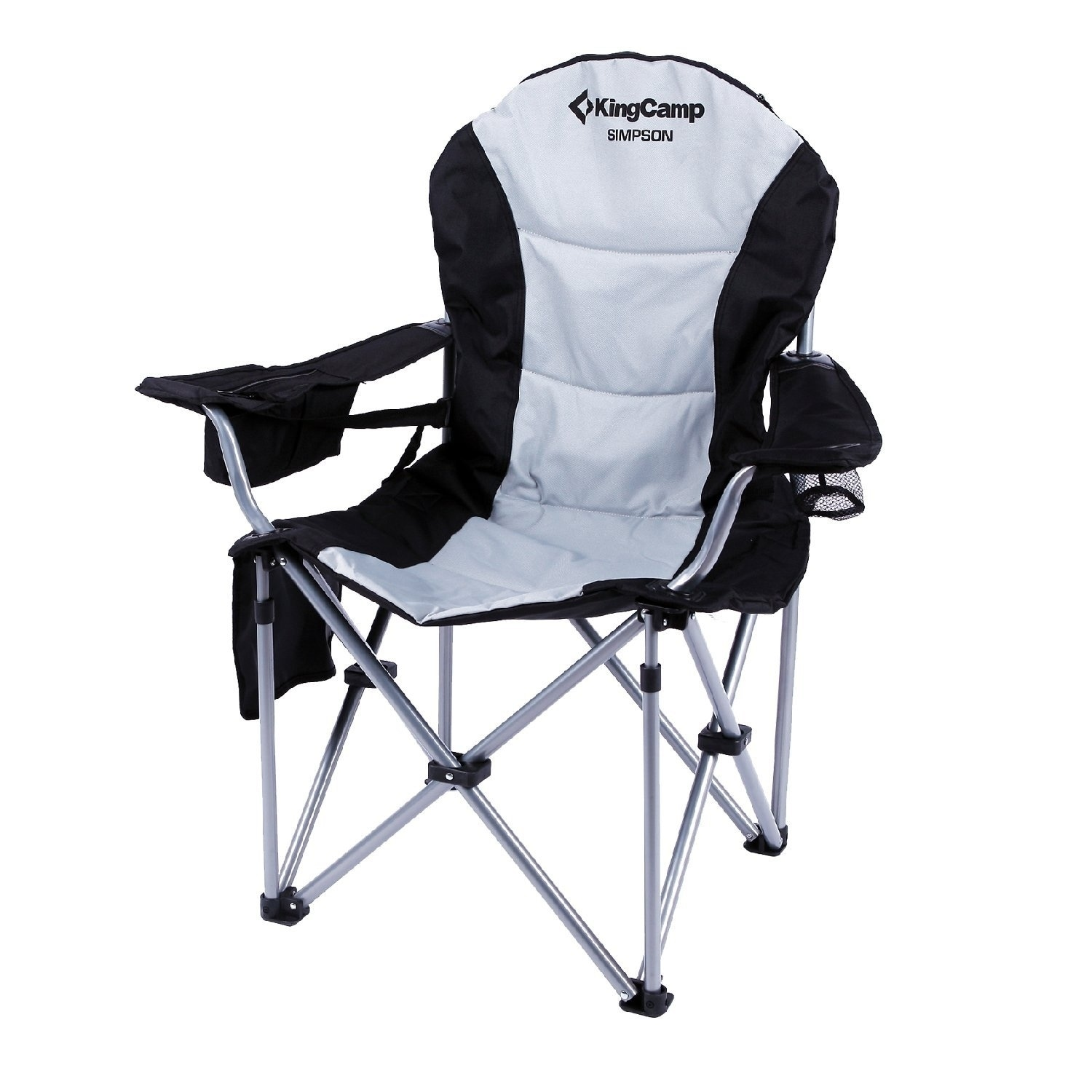 folding quad chair baby rocking glider shop kingcamp lumbar back support light weight portable