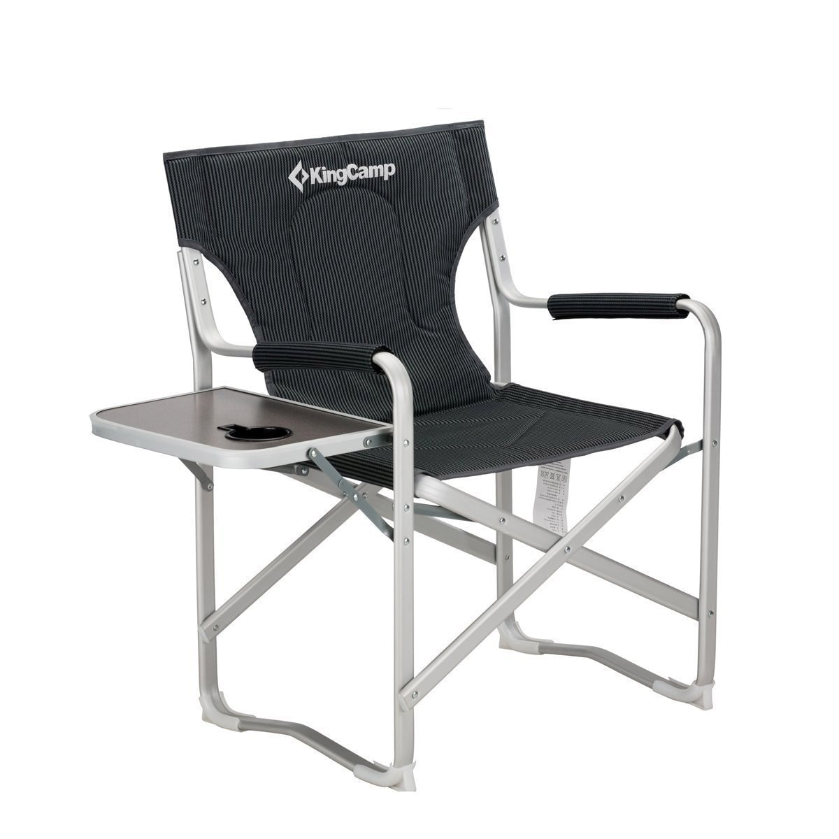Folding Director Chair Kingcamp Director Chair Folding Aluminum Padding Portable Heavy Duty Comfort Sturdy Reclining