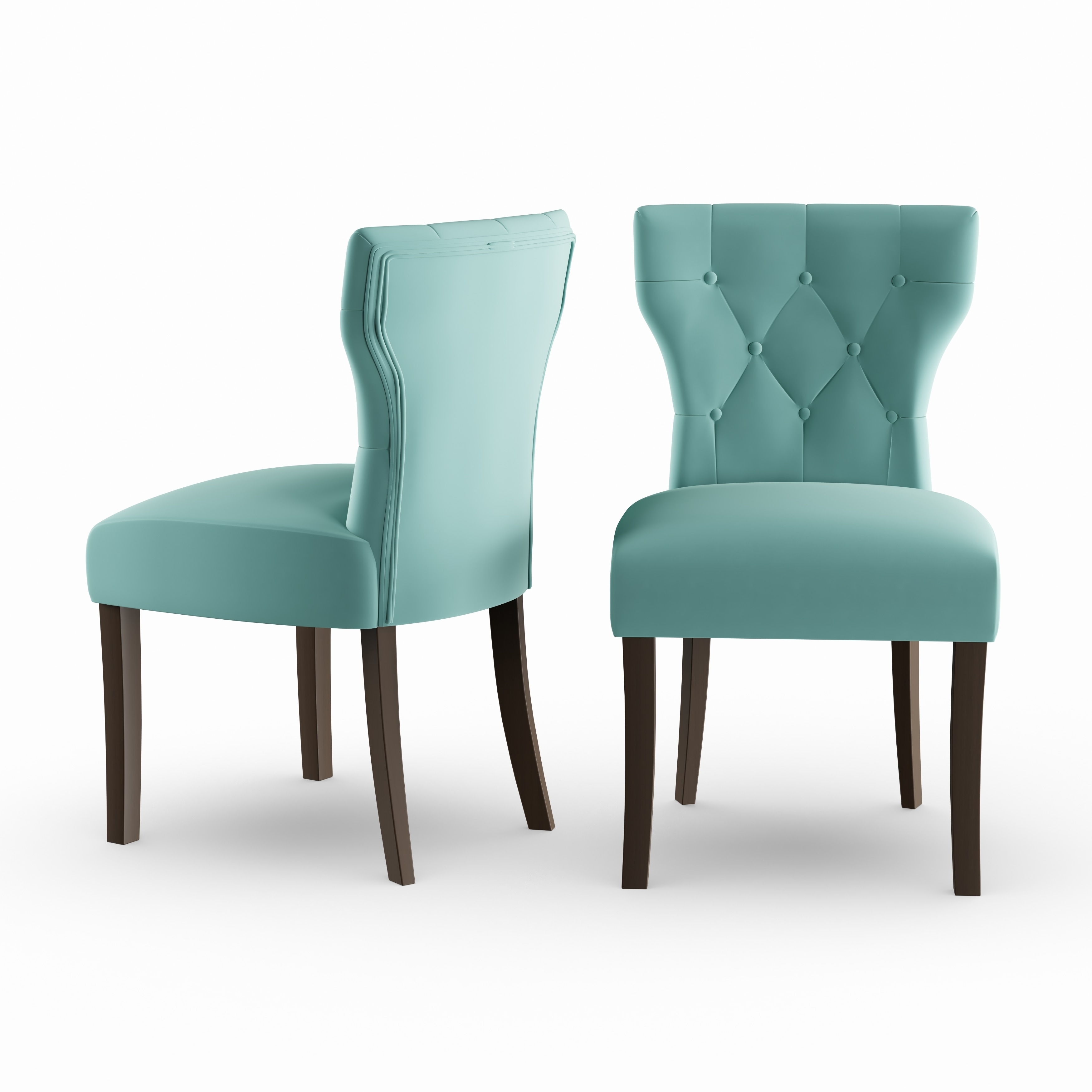 Copper Dining Chairs Copper Grove Lagunas Deep Turquoise Blue Velvet Upholstered Armless Dining Chairs Set Of 2