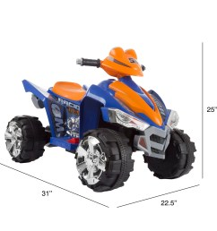 shop battery powered ride on toy atv four wheeler with sound effects by lil rider blue orange free shipping today overstock com 20710204 [ 2400 x 2400 Pixel ]