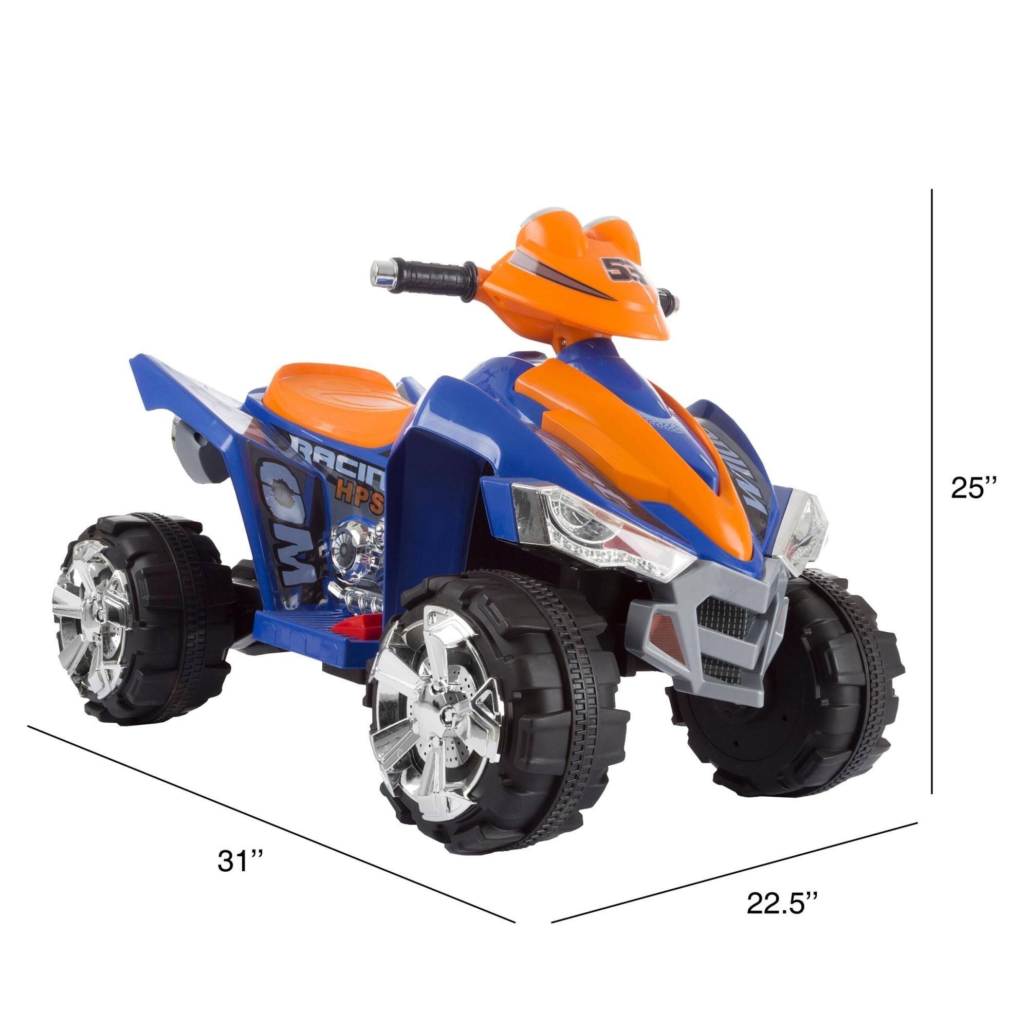hight resolution of shop battery powered ride on toy atv four wheeler with sound effects by lil rider blue orange free shipping today overstock com 20710204