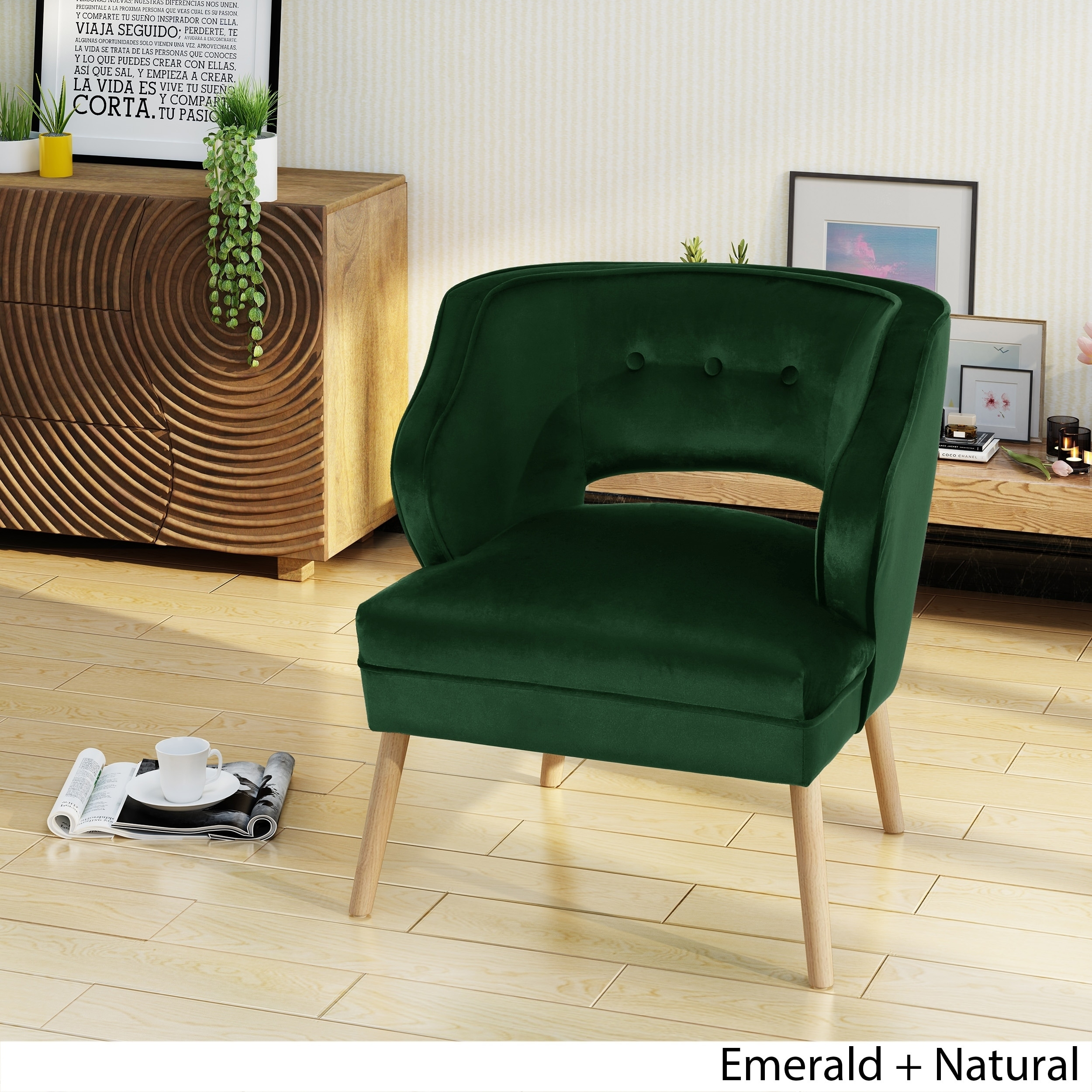 Emerald Green Accent Chair Mariposa Mid Century Velvet Accent Chair By Christopher Knight Home