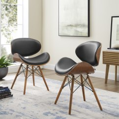 Cheap Accent Chair Wal Mart Chairs Shop Corvus Madonna Mid Century Walnut And Black Finish