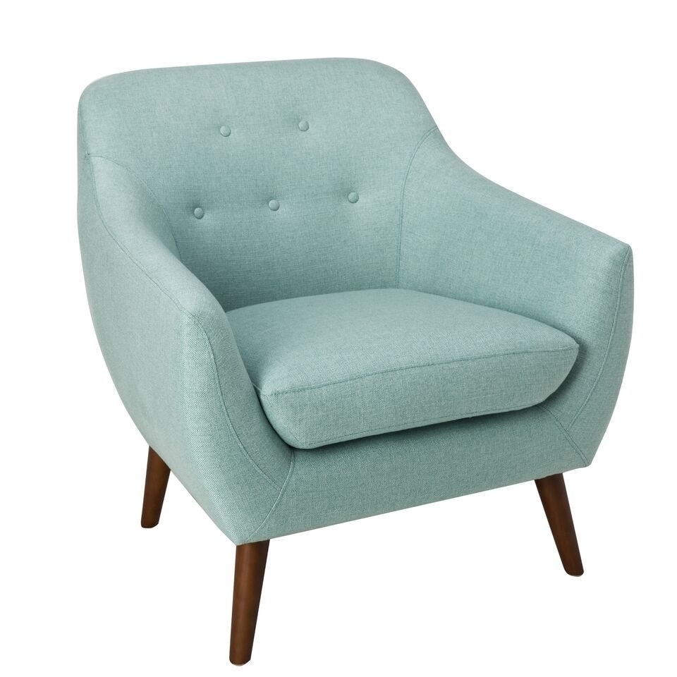 aqua accent chair cushions for metal chairs shop homepop monroe modern tufted on sale