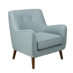 Tufted Accent Chairs Steel Chair Hire Shop Homepop Modern Light Blue Free Shipping