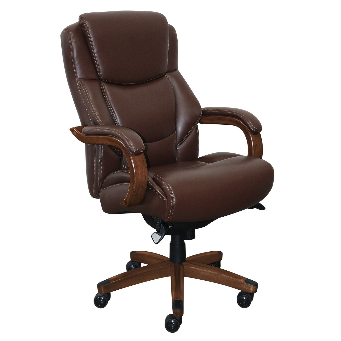 la z boy big tall executive leather office chair black cream slipper shop delano in brown bonded free shipping today overstock com 21122086