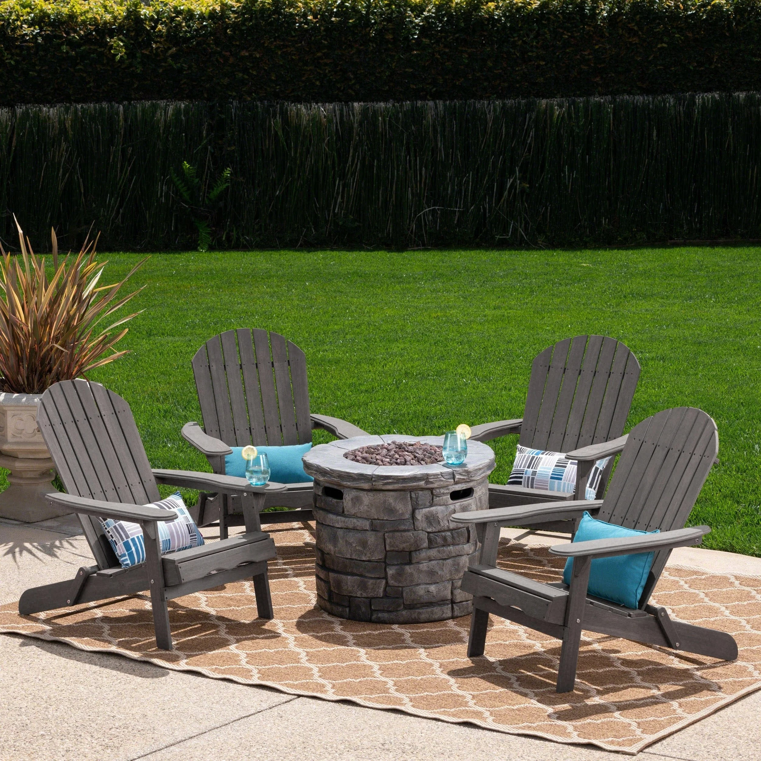 Adirondack Chair Set Maison Outdoor 5 Piece Adirondack Chair Set By Christopher Knight Home