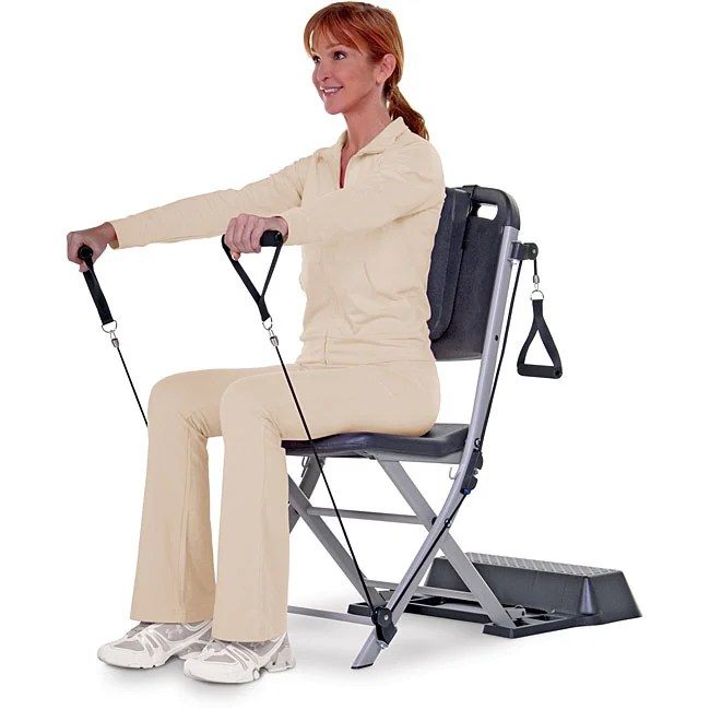 resistance chair exercise system reviews recover sling patio chairs top product for band seated refurbished