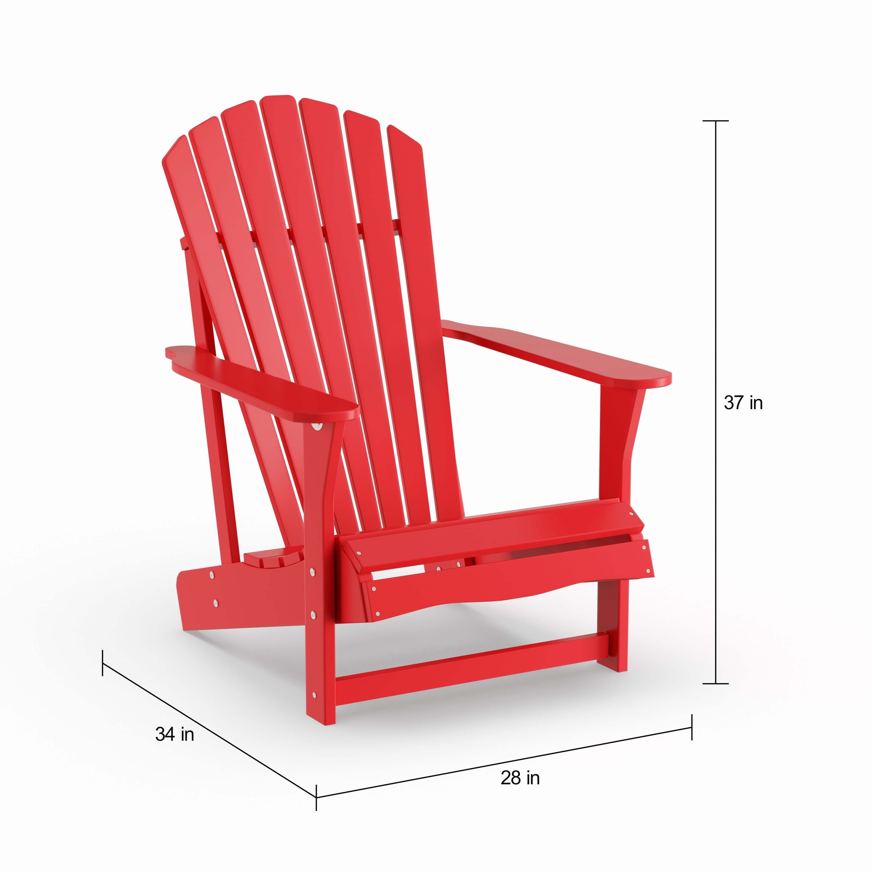 Red Adirondack Chairs Havenside Home Bergen Red 2 Piece Adirondack Chair And Side Table Set