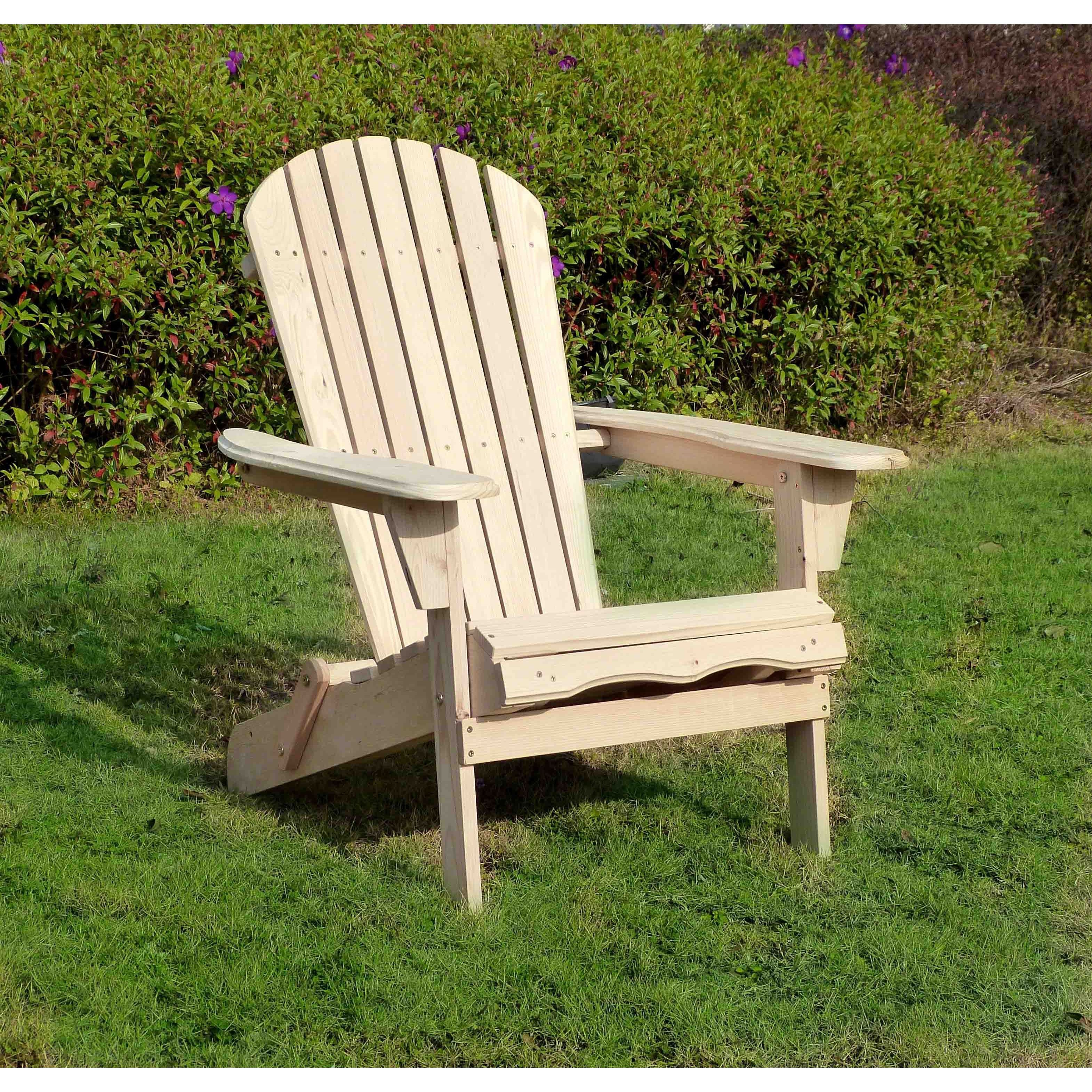 adirondack chair kit lowes kitchen cushions shop havenside home south padre with pullout ottoman free shipping today overstock com 21285561