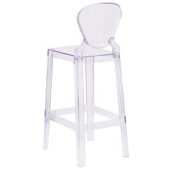 Ghost Bar Chair Harmony High Green Shop Modern Tear Drop Design Transparent Crystal Stool Free Shipping Today Overstock Com 21479780