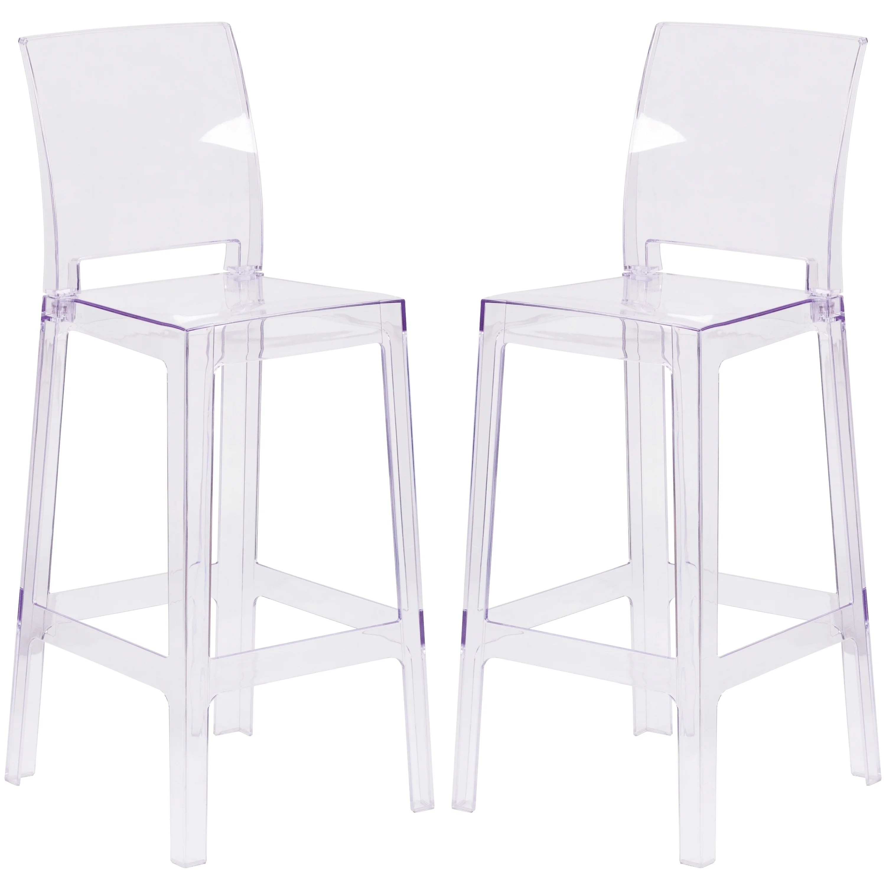ghost bar chair outdoor butterfly shop modern square back design transparent crystal stool free shipping today overstock com 21479782