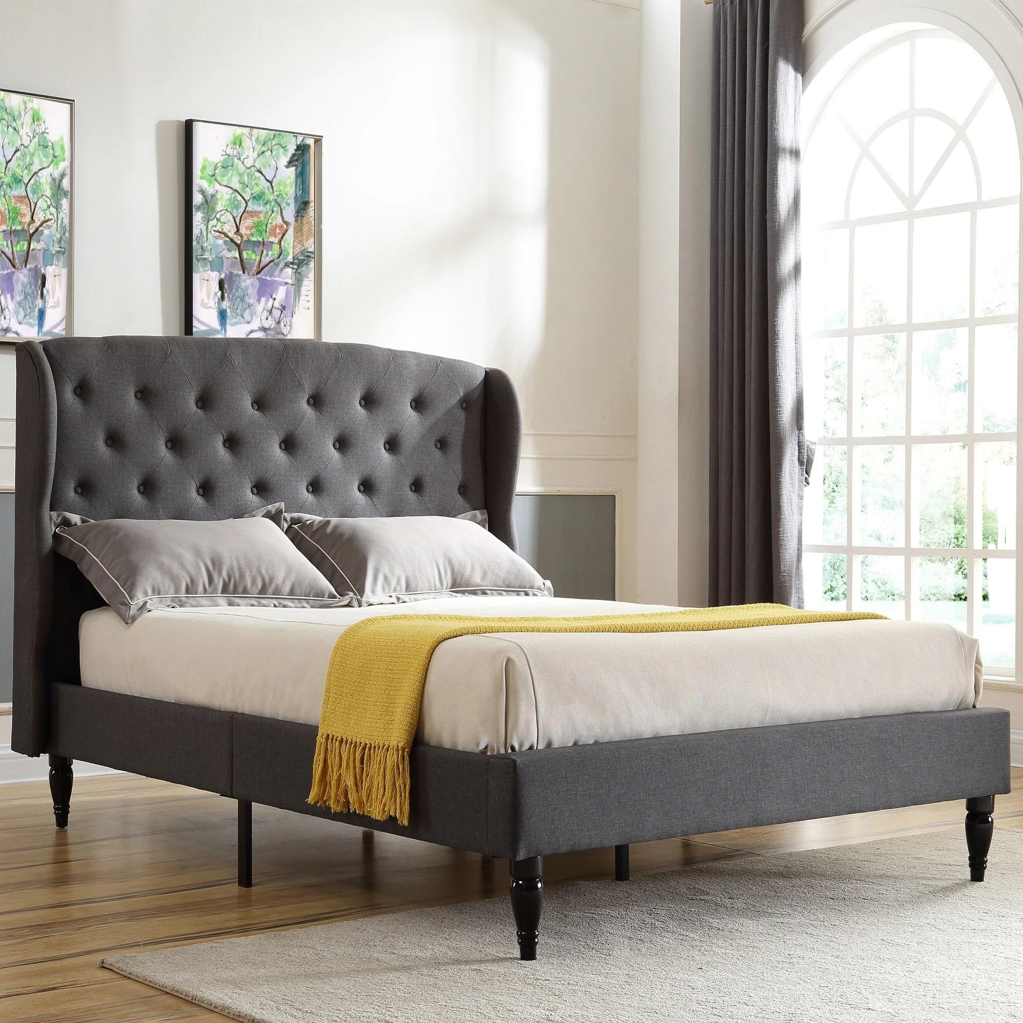 Shop Black Friday Deals On Classic Brands Coventry Upholstered Platform Bed Metal Frame With Wood Slat Support Overstock 21502480