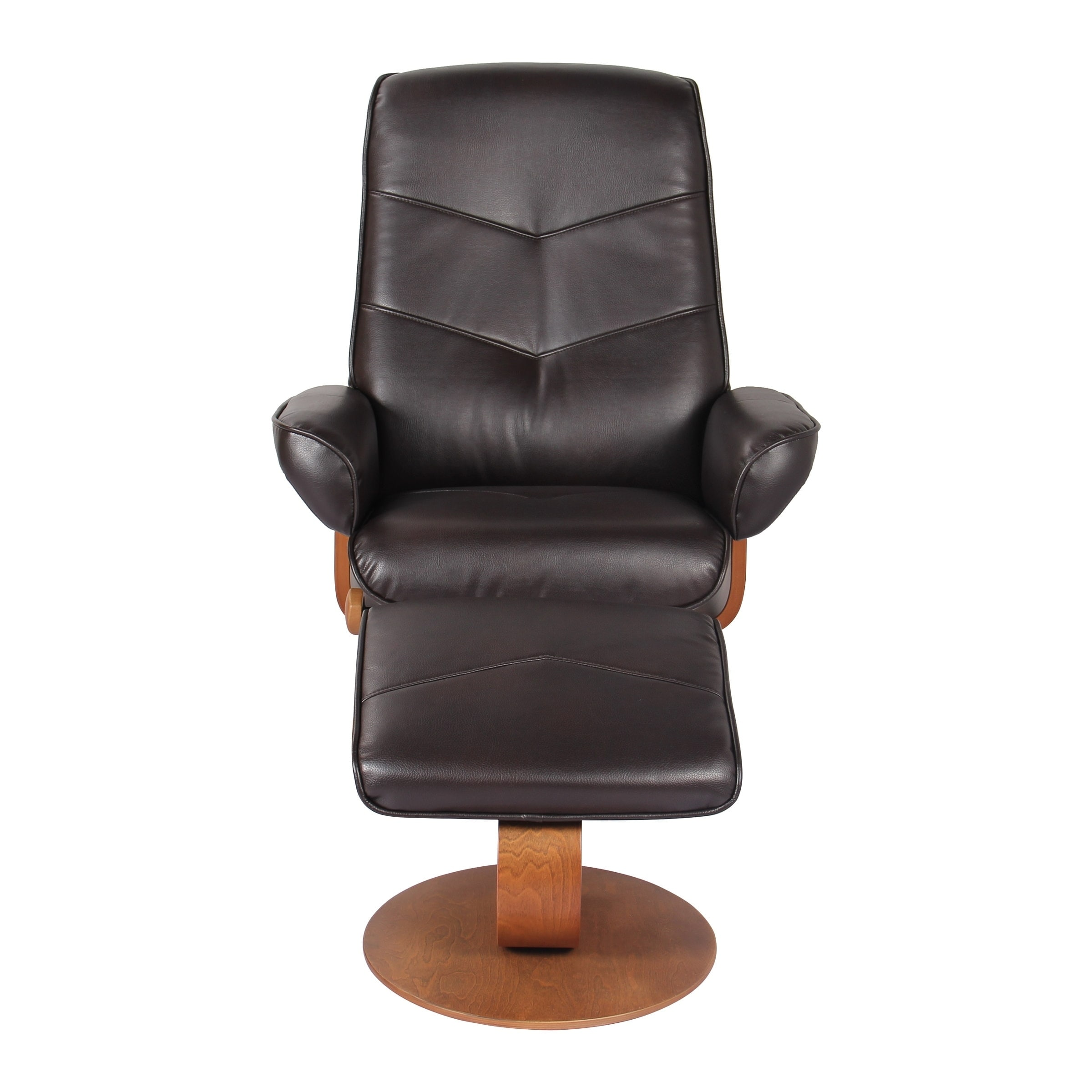 reclining chair with ottoman leather how to recane a shop newridge home swivel recliner in java verona on sale free shipping today overstock com 21609667